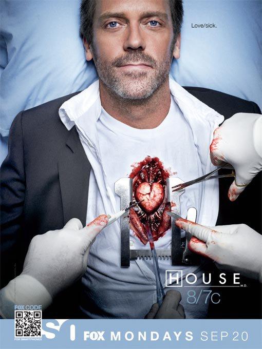 """151870059 - [Spin-Off News] Poster da 7ª Temporada de House mostra que """"o amor é uma doença"""""""