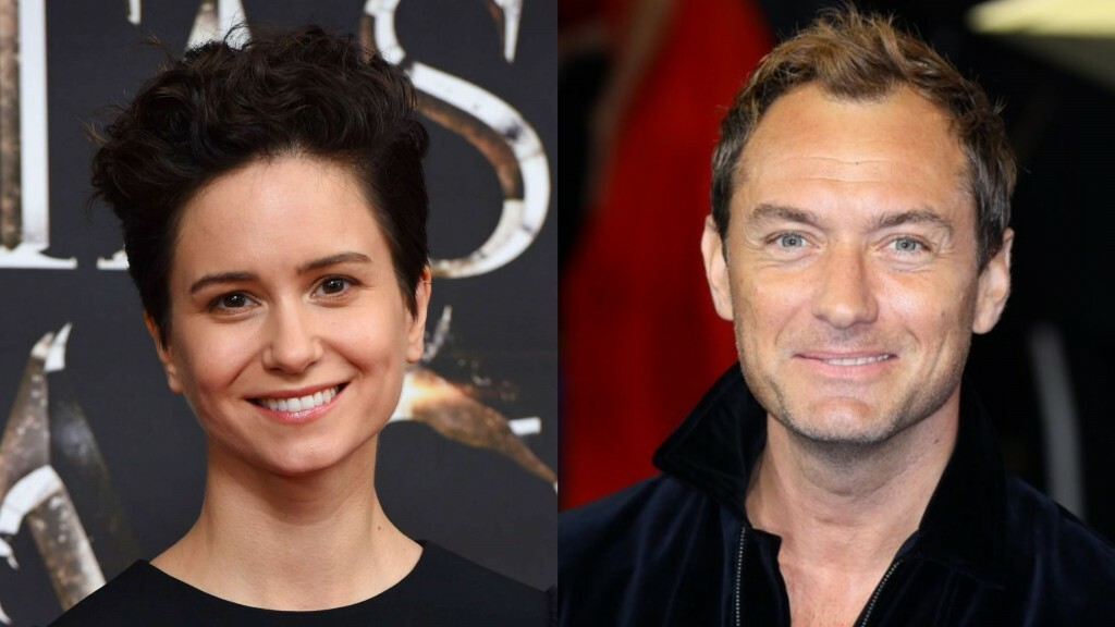 Katherine Waterston e Jude Law
