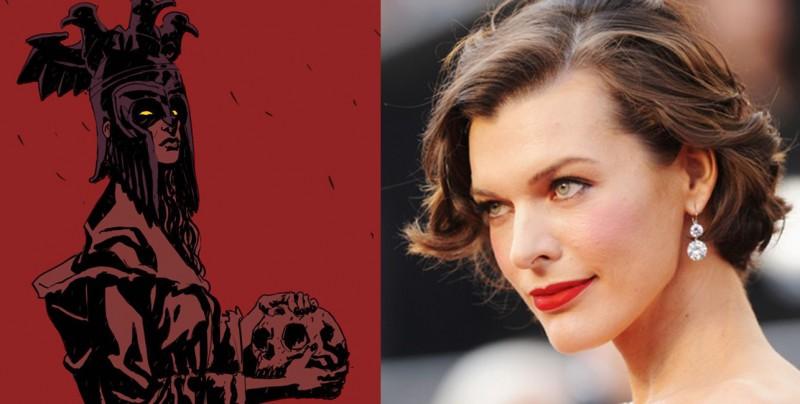 Milla Jovovich ser&#22... Milla Jovovich Hellboy