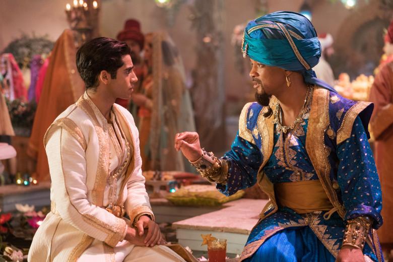 Will Smith e Mena Massoud em Aladdin (Divulgação)