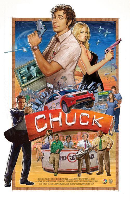 chuck new poster - [Em Janeiro...] Chuck também está de volta! O que veremos na 3ª Temporada?