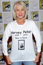 hellen mirren comic con - [Comic-Con 2010] Helen Mirren presta homenagem a Harvey Pekar no painel de Red