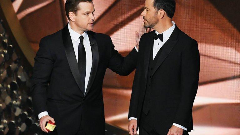 matt damon jimmy kimmel emmys embed - Emmy Awards terá novas categorias em 2017
