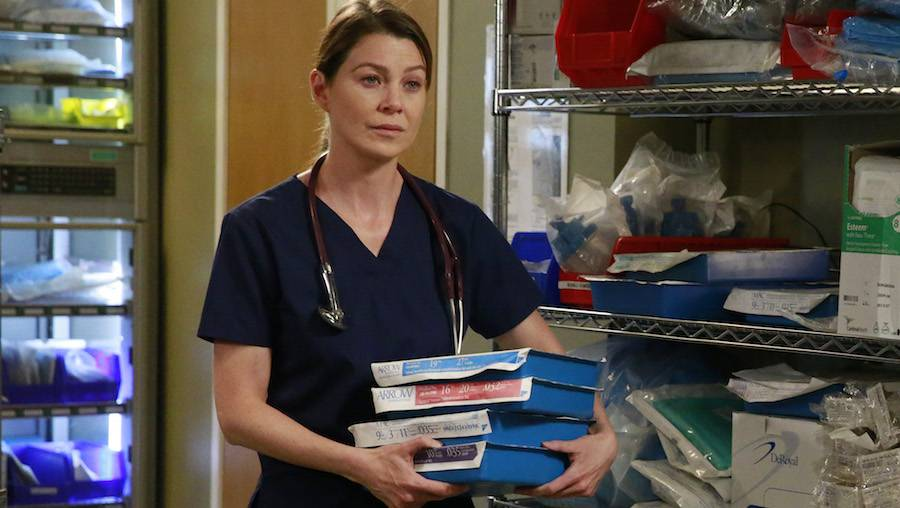 "GREY'S ANATOMY - ""Time Stops"" - The doctors of Grey Sloane Memorial Hospital are forced to put their emotions aside when a catastrophic event occurs, on ""Grey's Anatomy,"" THURSDAY, MAY 7 (8:00-9:00 p.m., ET) on the ABC Television Network. (ABC/Mitchell Haaseth) ELLEN POMPEO"